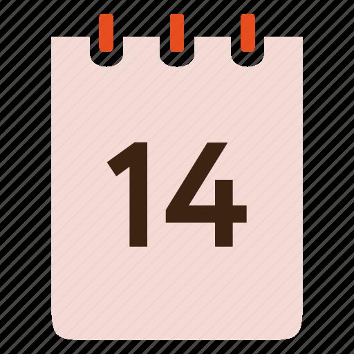 calendar, day, event, valentine, valentine's day icon