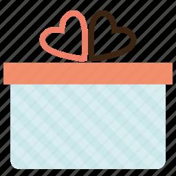 box, gift, love, present, valentine, valentine's day, valentines icon