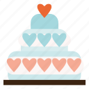 cake, valentine, valentines, wedding icon
