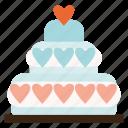 cake, valentine, wedding, valentines icon