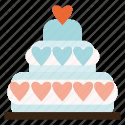 cake, valentine, valentines, wedding icon