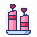 candle, heart, love, pink, red, valentine