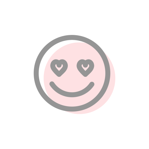 emoji, emoticon, face, love, smile, smiley, valentines icon