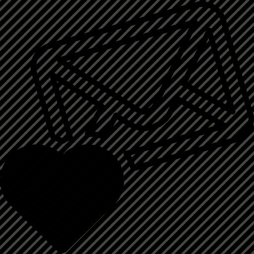 chat, envelope, mail, message, romantic, send, valentines icon