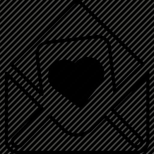 communication, envelope, heart, letter, love, mail, valentines icon