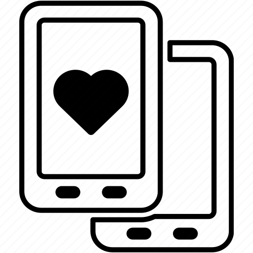 call, chat, communication, love, mobile, phone, valentines icon