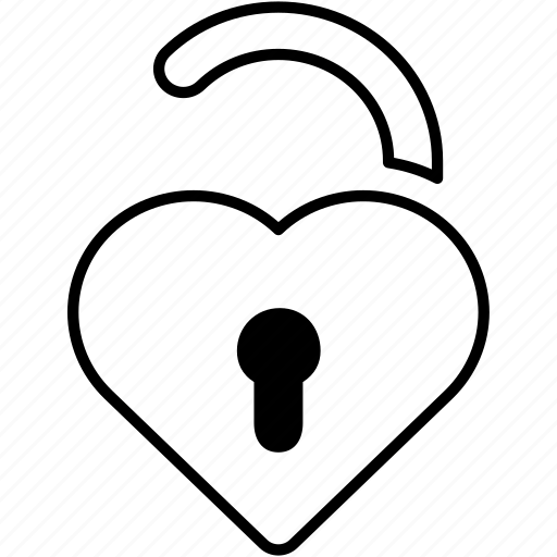 heart, lock, love, password, safe, security, valentines icon