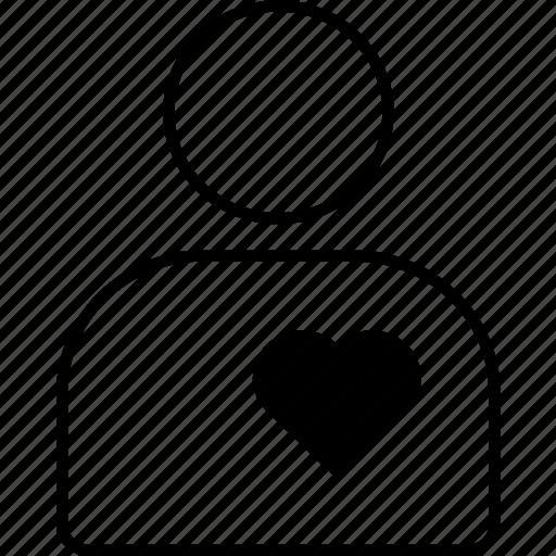 account, avatar, love, man, person, profile, valentines icon