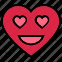 emoji, face, happy, heart, love, valentine's day icon