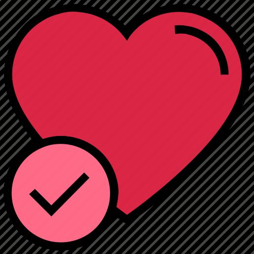 accept, access, heart, love, valentine's day icon