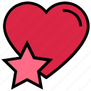 favorite, heart, like, love, star, valentine's day icon
