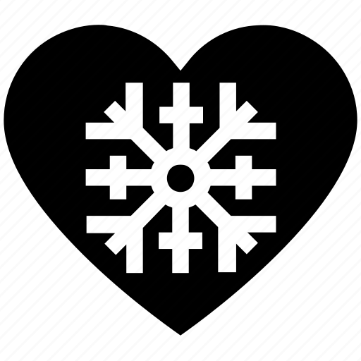 cold, heart, love, snow, valentine's day, winter icon