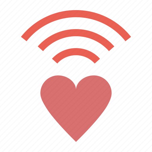 Heart, love, network, romance, valentines, wifi icon - Download on Iconfinder