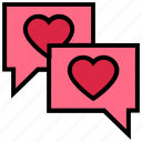 chat, heart, love, messages, private, romance, valentine's day