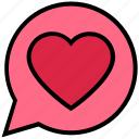 chat, heart, love, message, private, romance, valentine's day icon