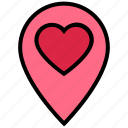 heart, location, love, marker, navigation, pin, valentine's day