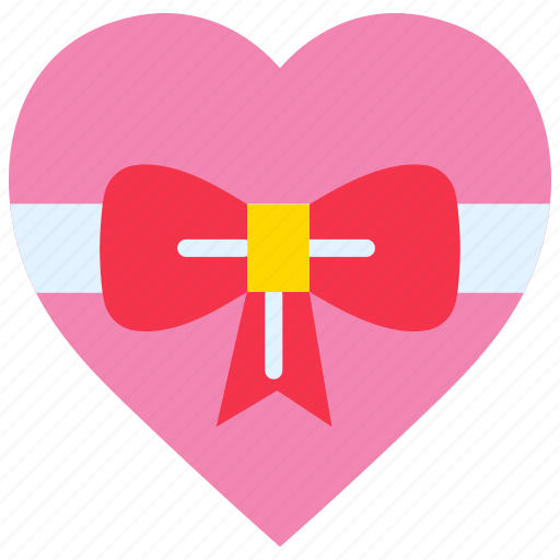 gift, heart, love, valentines day, wedding, wrap icon