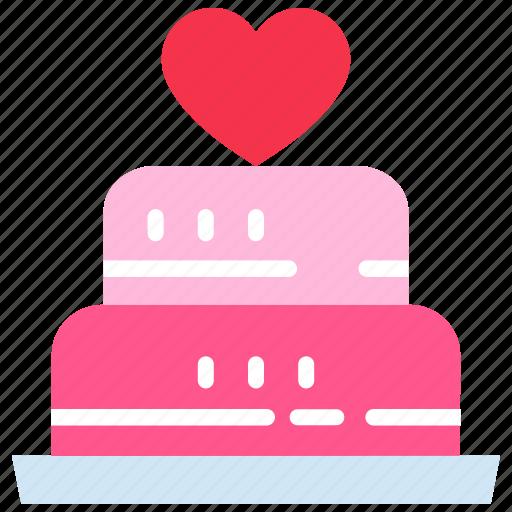 bakery, cake, heart, love, party, wedding icon