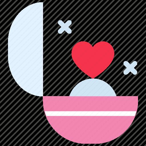 couple, gift, heart, love, ring, wedding icon