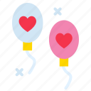 balloon, celebration, decoration, heart, party, wedding icon