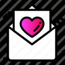 celebration, email, greetings, heart, letter, love