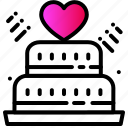bakery, cake, heart, love, party, wedding