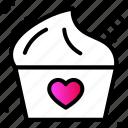 dessert, heart, ice cream, love, party, sweet icon