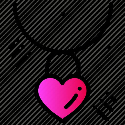 chain, gift, heart, love, valentines day, wedding icon