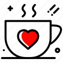 coffee, heart, love, party, valentines day icon