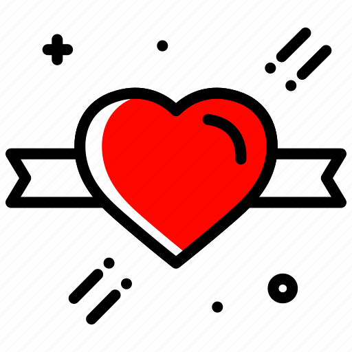 gift ribbon, gift wrap, heart, love, valentines day, wedding icon
