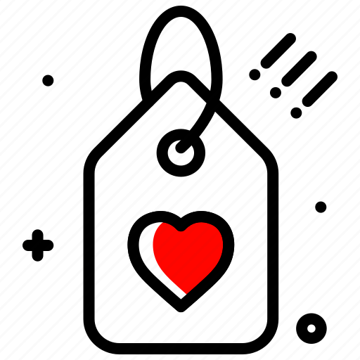 celebration, discount, gift, heart, love, tag icon