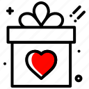 celebration, gift, heart, love, party, wedding icon