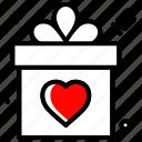 celebration, gift, heart, love, party, wedding icon