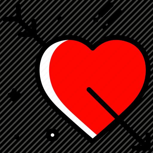arrow, heart, love, proposal, valentines day, wedding icon