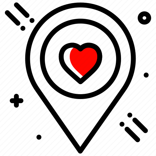 heart, location, love, party, valentines day, wed location icon