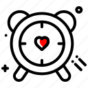 clock, gift, heart, schedule, time, valentines day