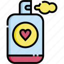 ui, essential, valentine, perfume, love icon