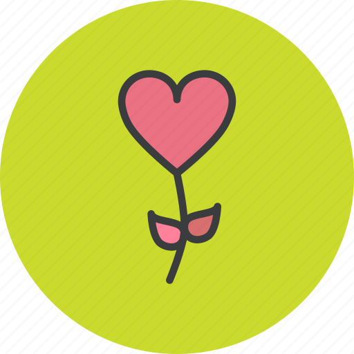 blossom, flower, heart, romance, rose, valentines icon