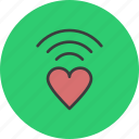 heart, love, network, romance, valentines, wifi