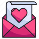 email, envelope, heart, letter, love, romance, valentine icon