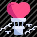 adventure, air, balloon, love, romance, travel, valentine