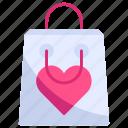 bag, ecommerce, love, romance, shop, shopping, valentine icon
