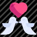 bird, couple, cute, dove, love, marriage, valentine
