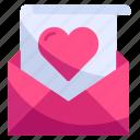 email, envelope, heart, letter, love, romance, valentine