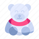 bear, children, doll, gift, teddy, toy, valentine icon