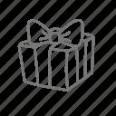 love, present, valentine, valentine's icon