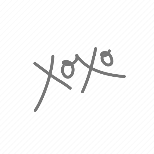 couple, love, valentine, valentine's, xoxo icon