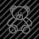 bear, love, toy, valentine, valentine's icon