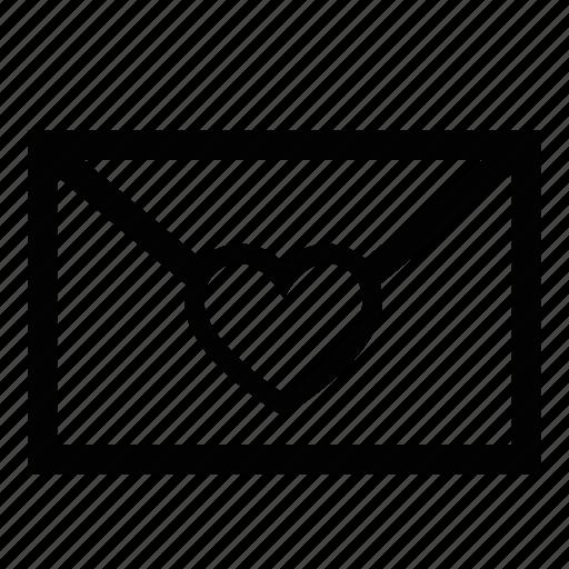envelope, heart, love letter, message, sending love icon