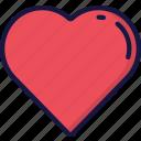 february, heart, heart beat, love, valentines icon
